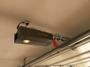 garagentorantrieb mit magnetkontakten