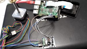 raspberry pi with stepper motor and shield 1