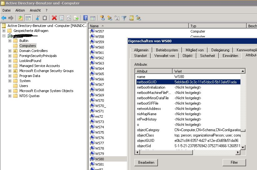 Active Directory, WDS: Prepare existing workstation in